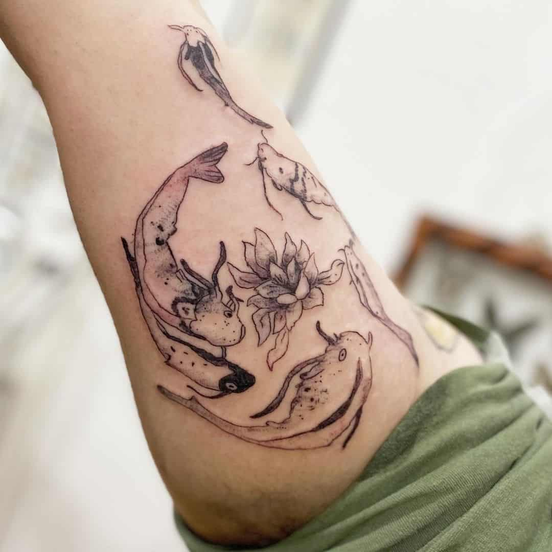 Lotus Koi Fish Tattoo Ideas 3