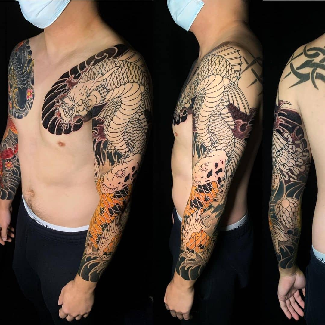 Dragon Koi Fish Tattoo Ideas 4