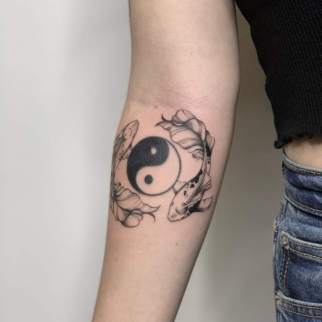 Yin Yang Koi Fish Tattoo Ideas 2