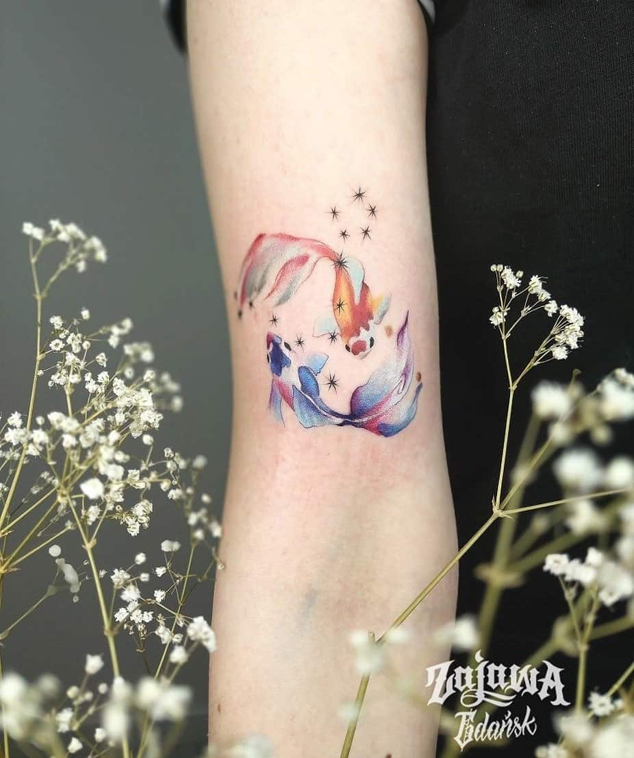 Small Koi Fish Tattoo Ideas 5
