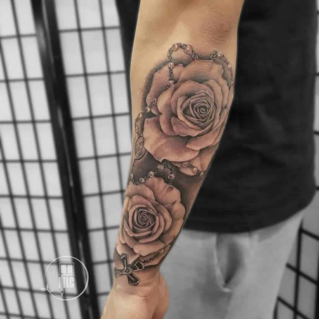 other Rose Half Sleeve Tattoo 3