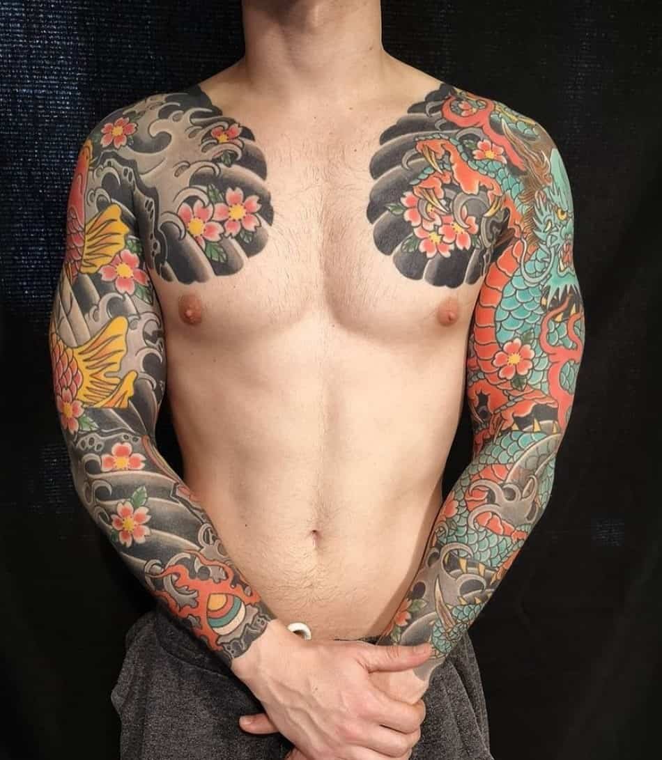 Sleeve Koi Fish Tattoo Ideas 1
