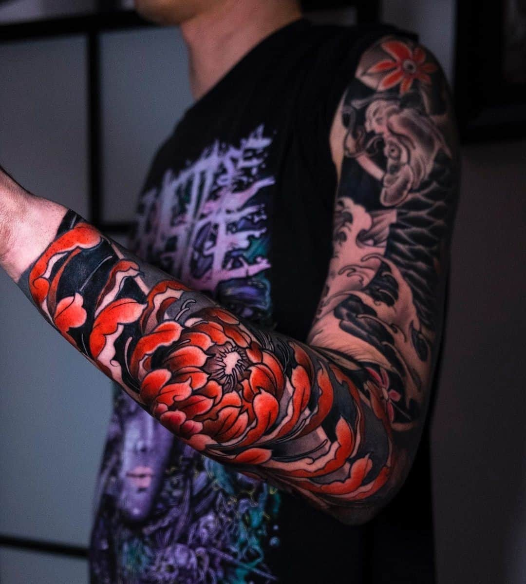 Sleeve Koi Fish Tattoo Ideas 2