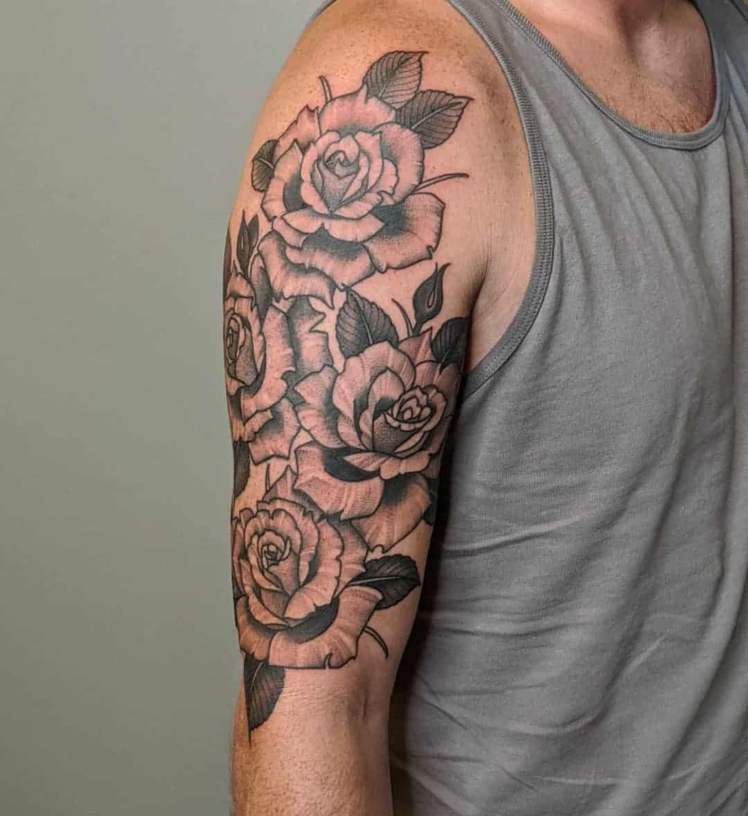 other Rose Half Sleeve Tattoo