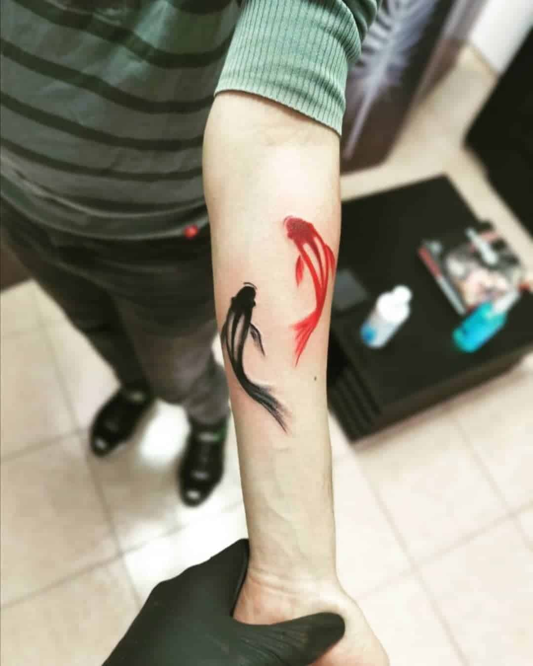 Best Small Koi Fish Tattoo Ideas