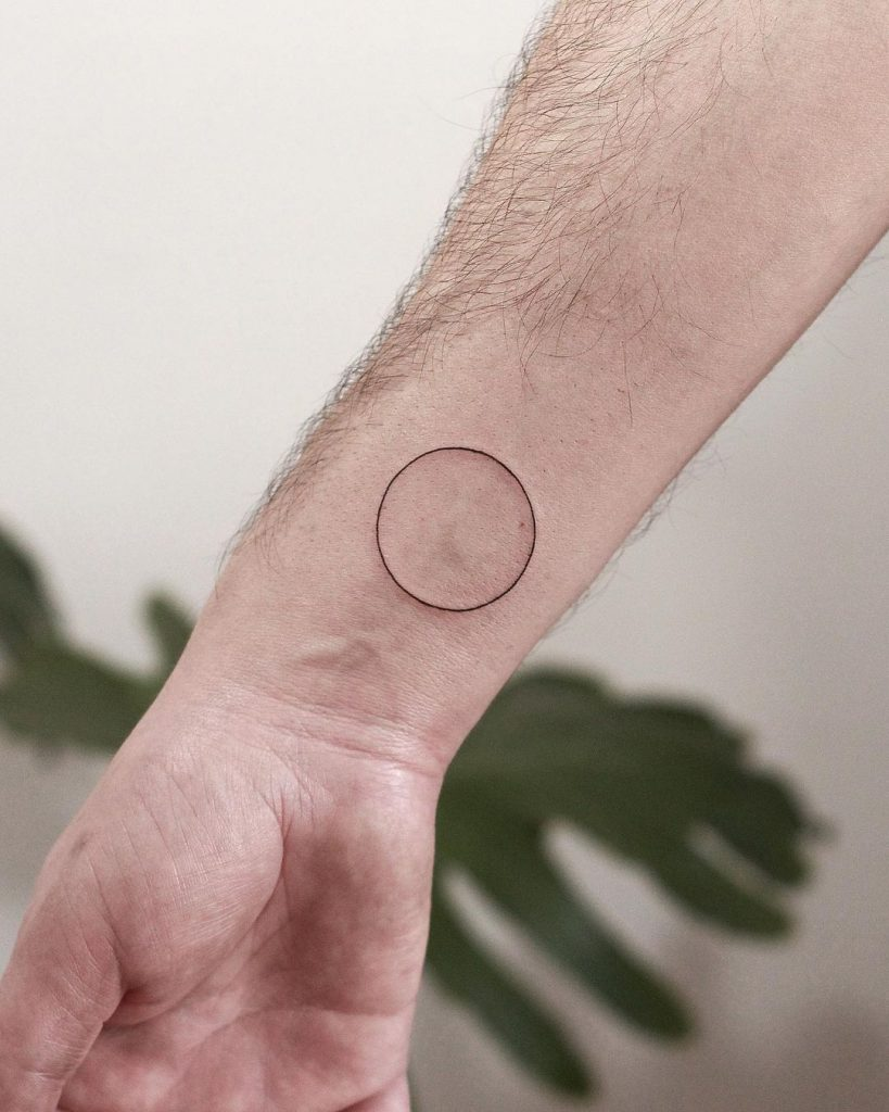 Circle Tattoo Design That Shows Strength (1)