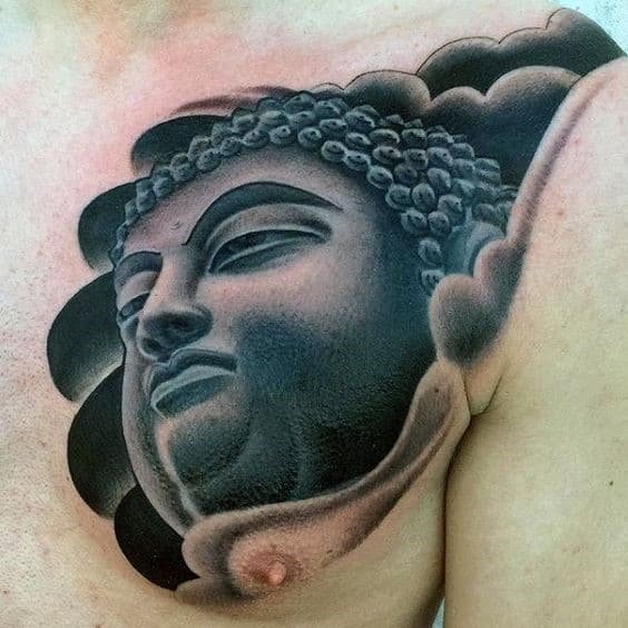 Detailed And Well Shaded Buddha Tattoo