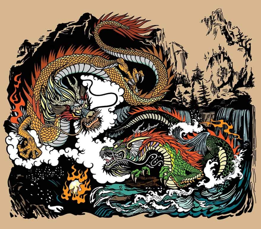 Dragons In East Asia
