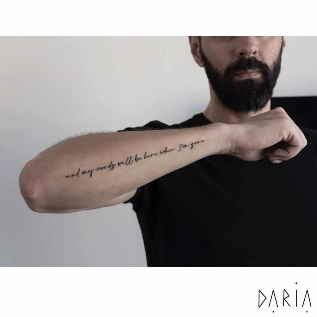 Motivational Phrases Tattoo Design That Shows Strength (1)