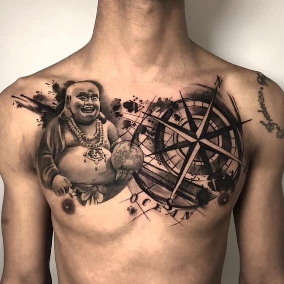 Story Telling Buddha Tattoo Over Entire Chest