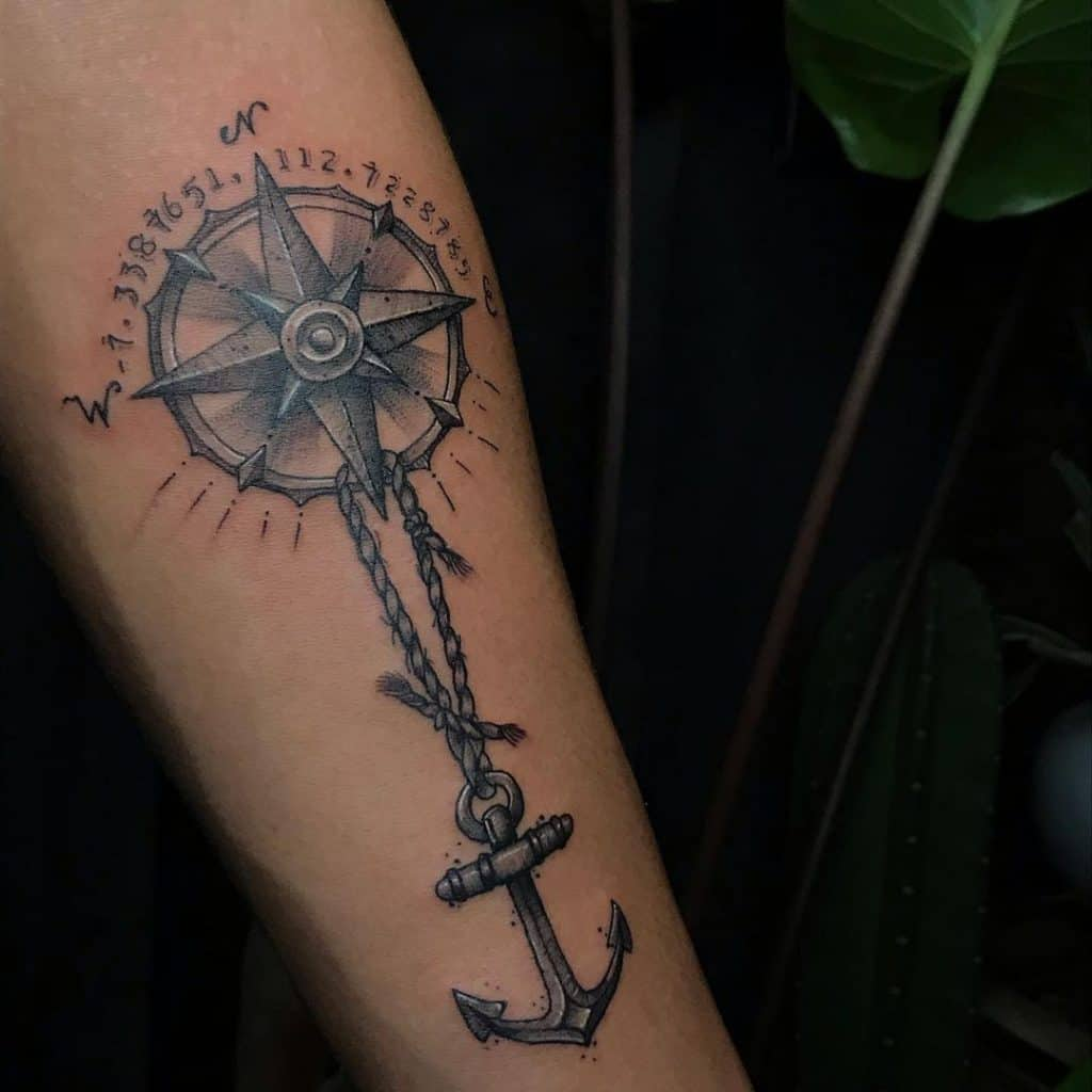 Anchor On A Rope Tattoo