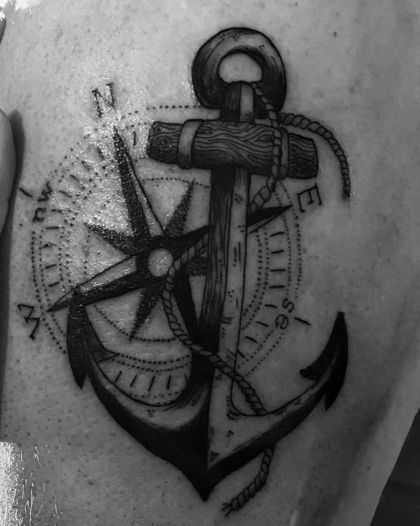 Anchor With Compass
