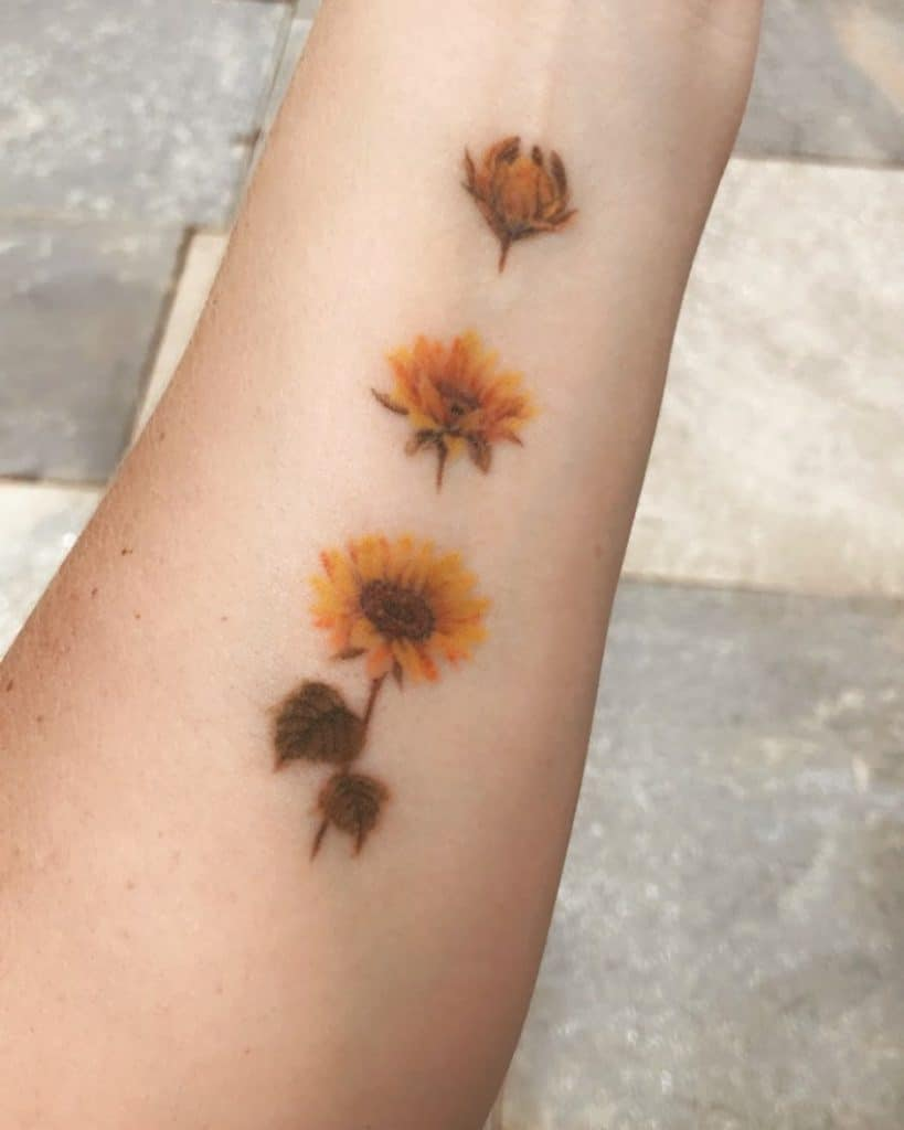 Blooming Sunflower Tattoo