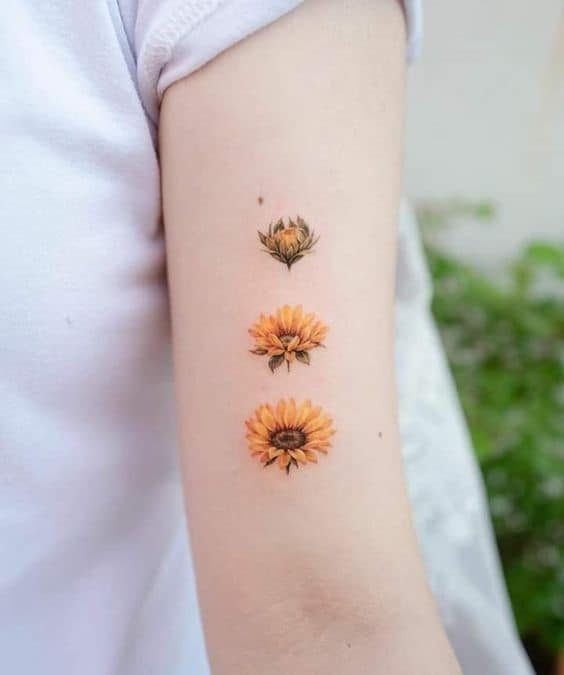 Blooming Sunflower Tatto