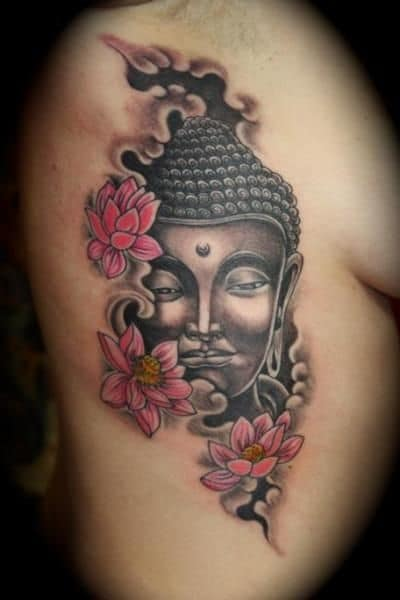 Buddha And Lotus Flower Tattoo