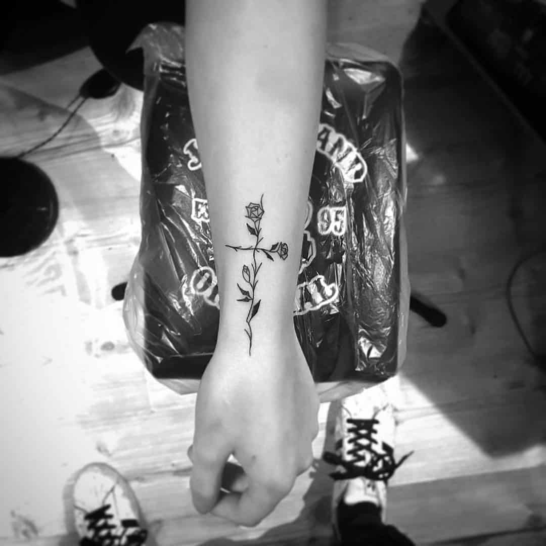 Cross Tattoos, saved tattoo, 11