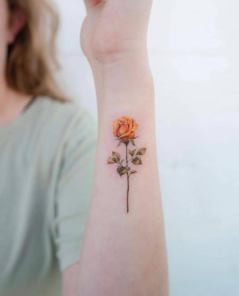 Delicate and Realistic Sunflower Tattoo