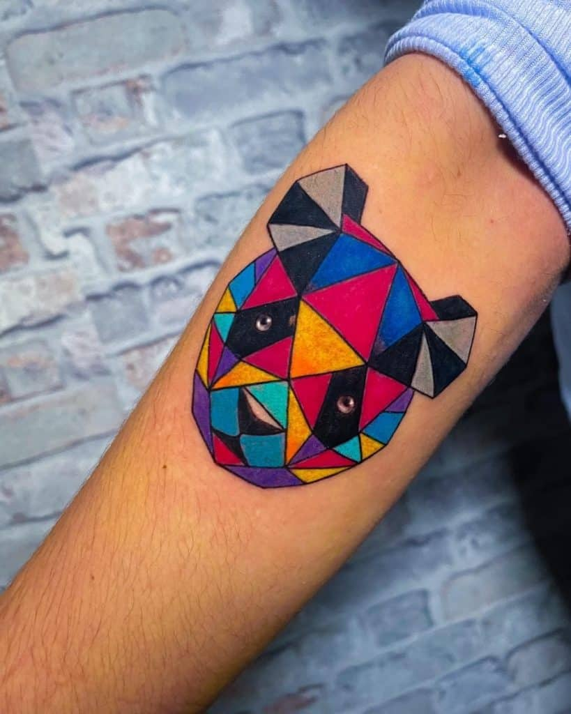 Electric Panda Tattoo Geometrical Shape