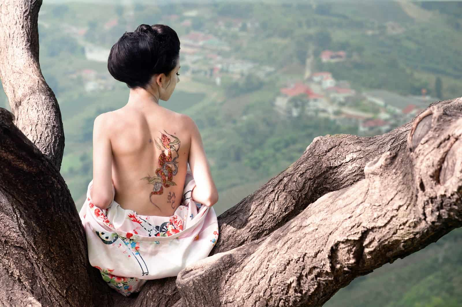 Japanese Tatto women