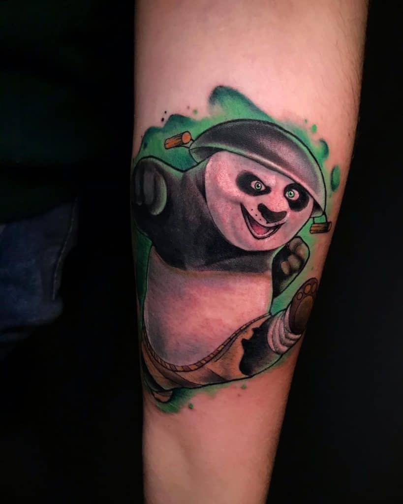 Kung Fu Panda Tattoo Green Tattoo
