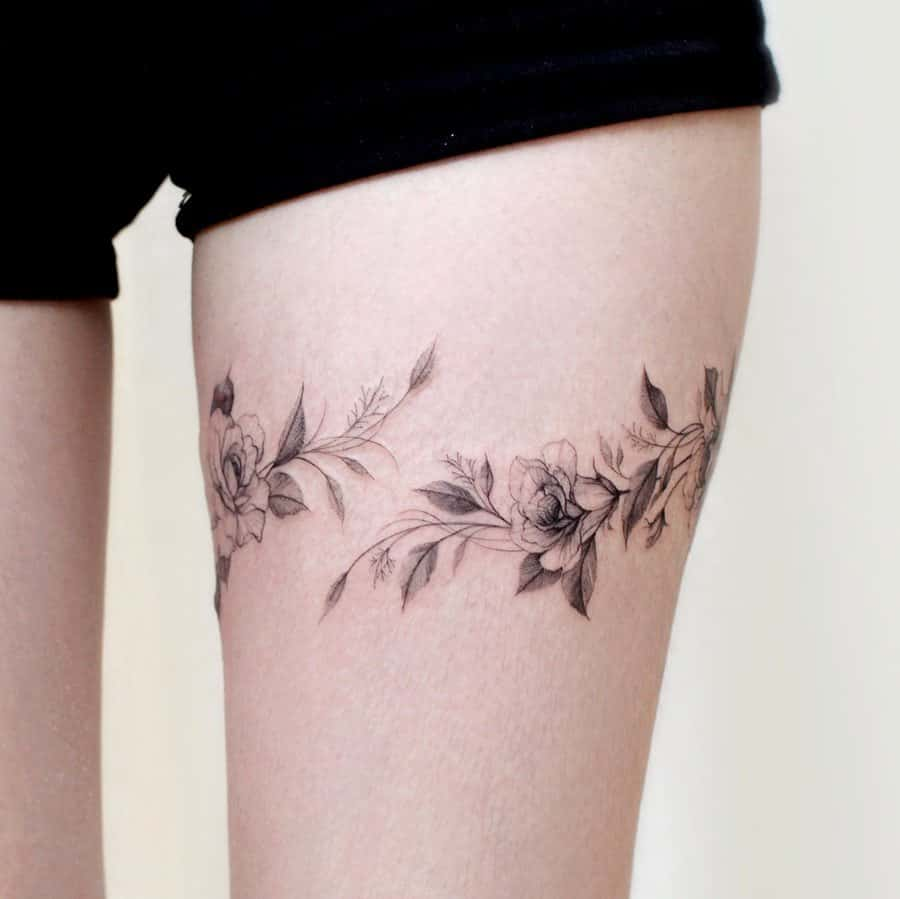 Outer Thighs Tattoo