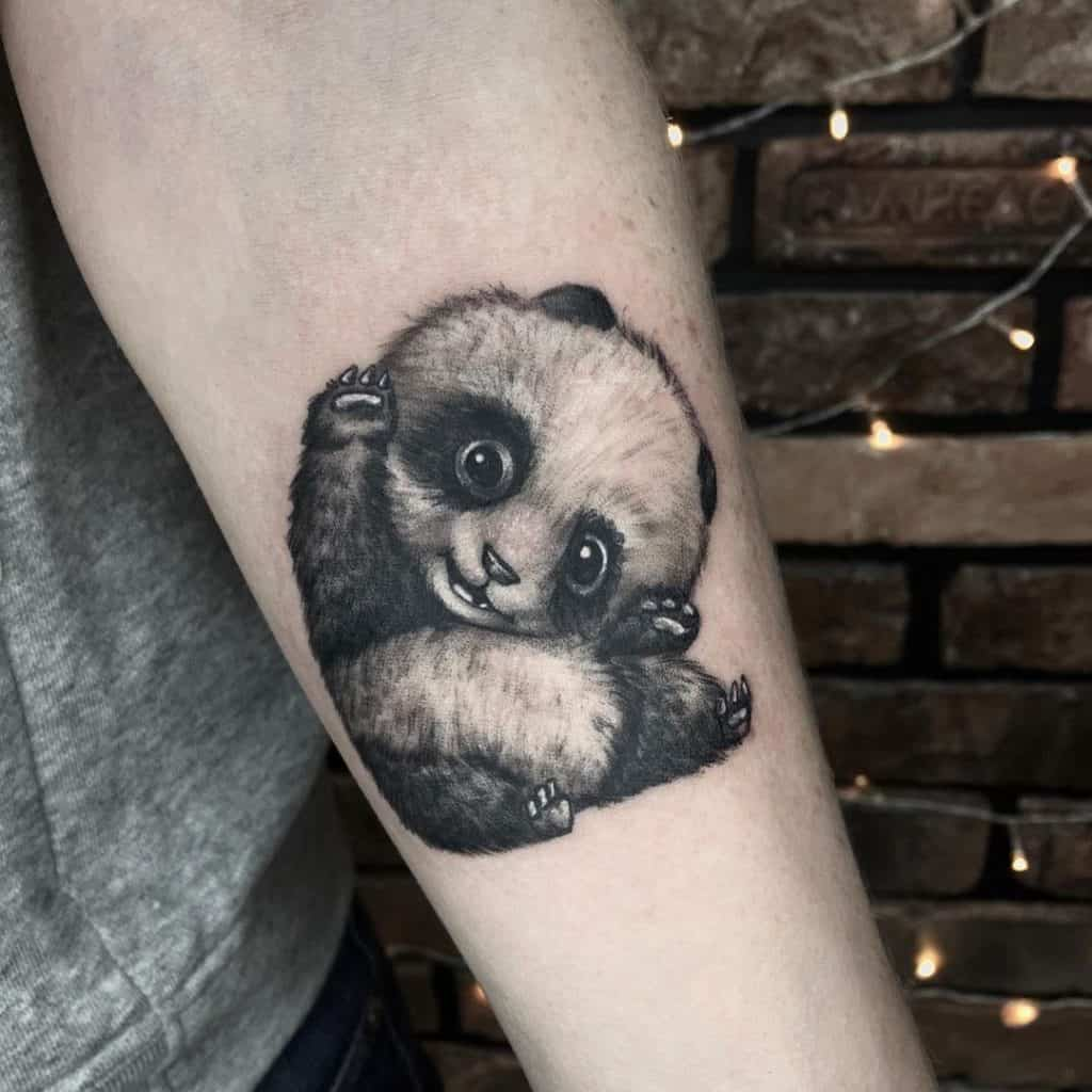 Panda Tattoo Hand Forearm Design