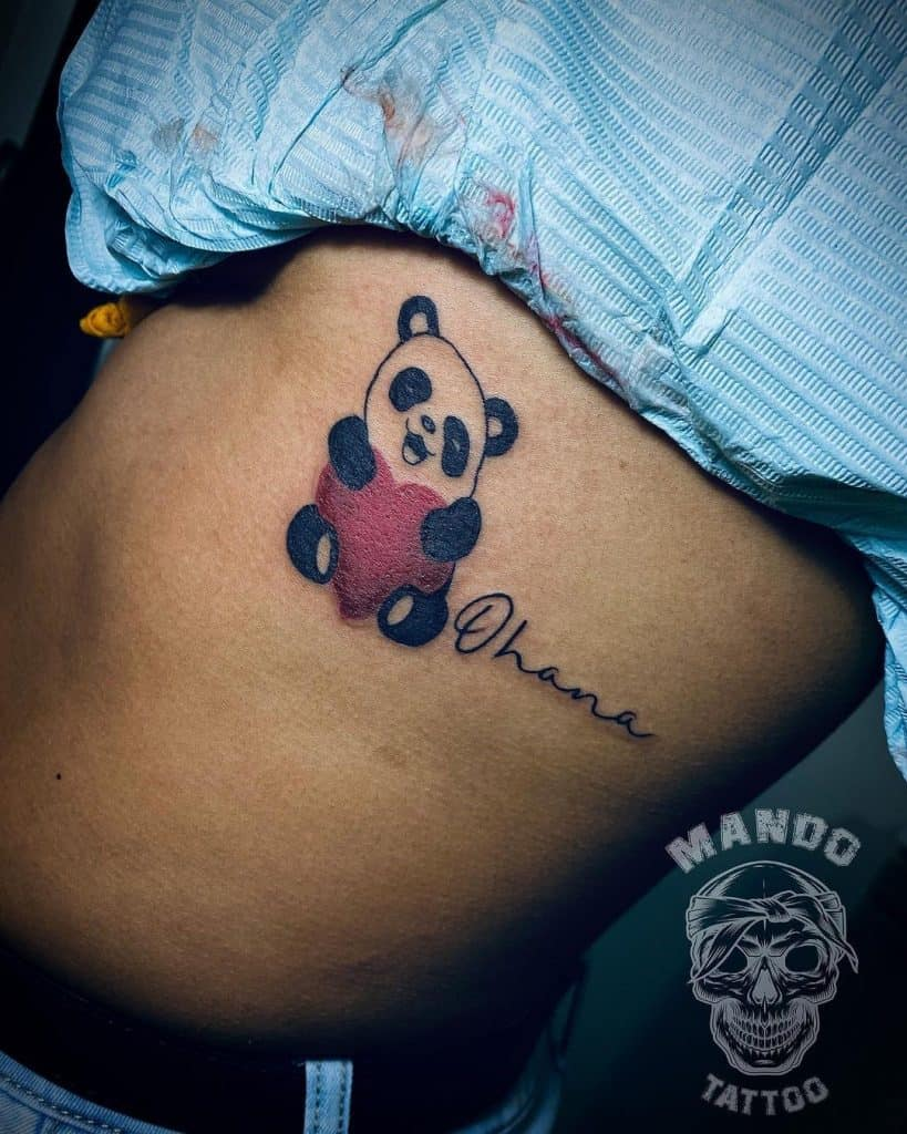 Panda Tattoo Ideas For Your Stomach
