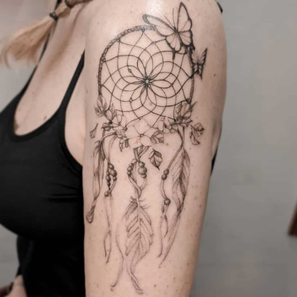 Protection Tattoo Ideas, saved tattoo, dream catcher