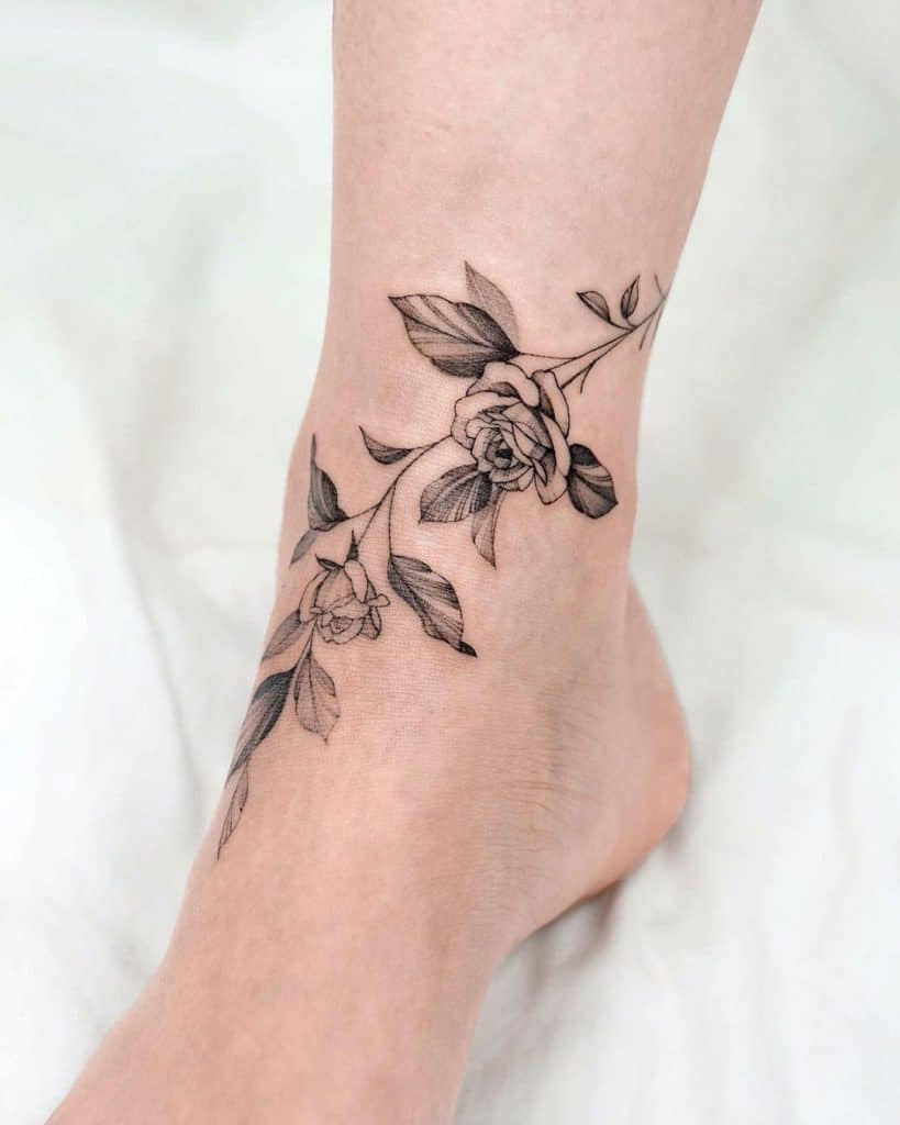 Shinbones And Ankles Tattoo