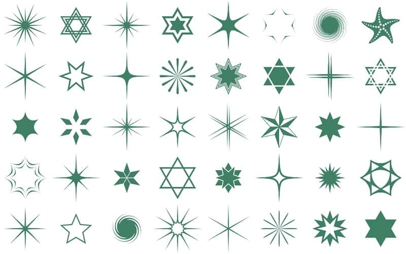 Star Tattoos, saved tattoo, types green