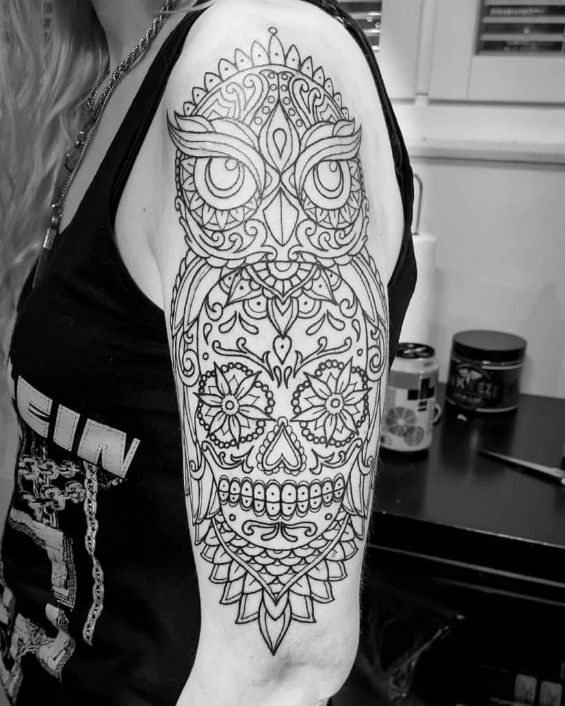 Sugar Skull Tattoos, saved tattoo, 12