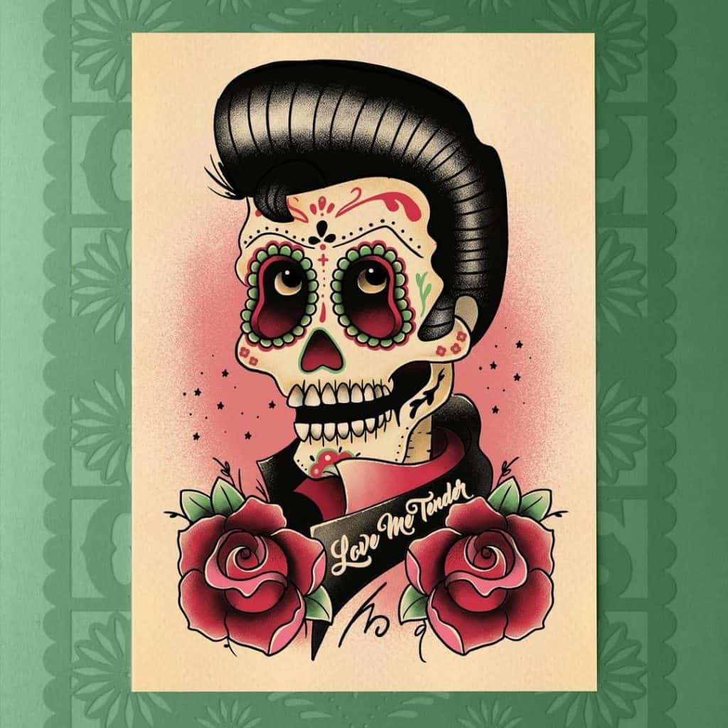 Sugar Skull Tattoos, saved tattoo, 13