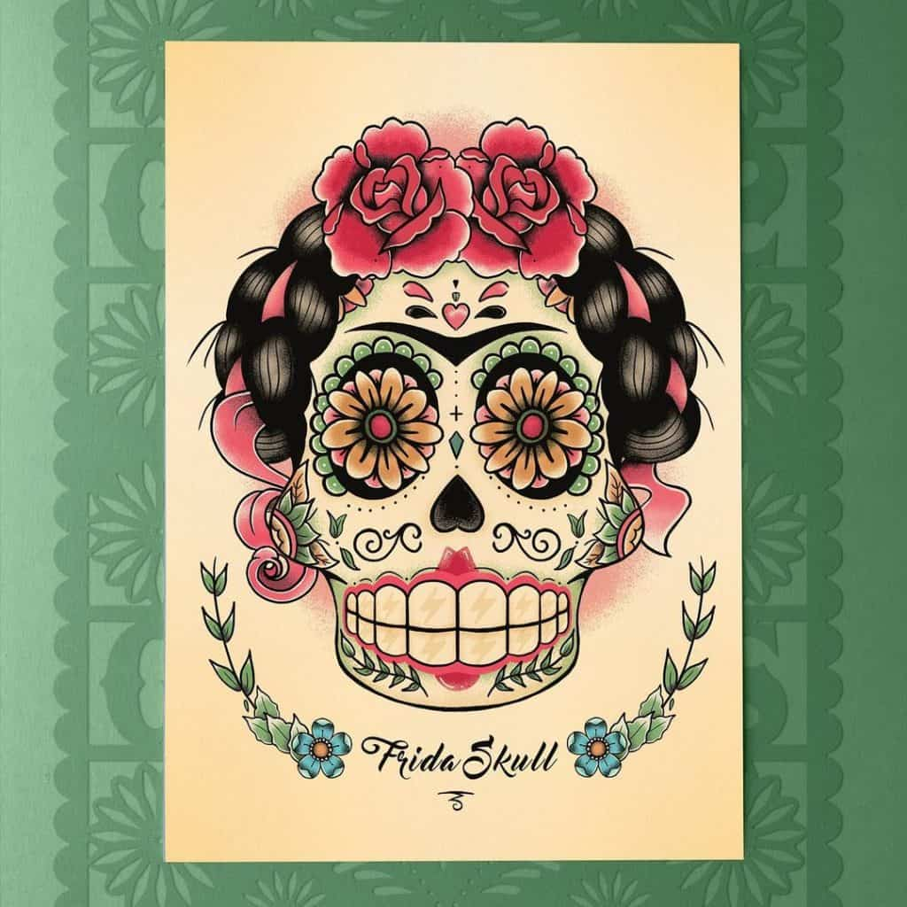 Sugar Skull Tattoos, saved tattoo, 14
