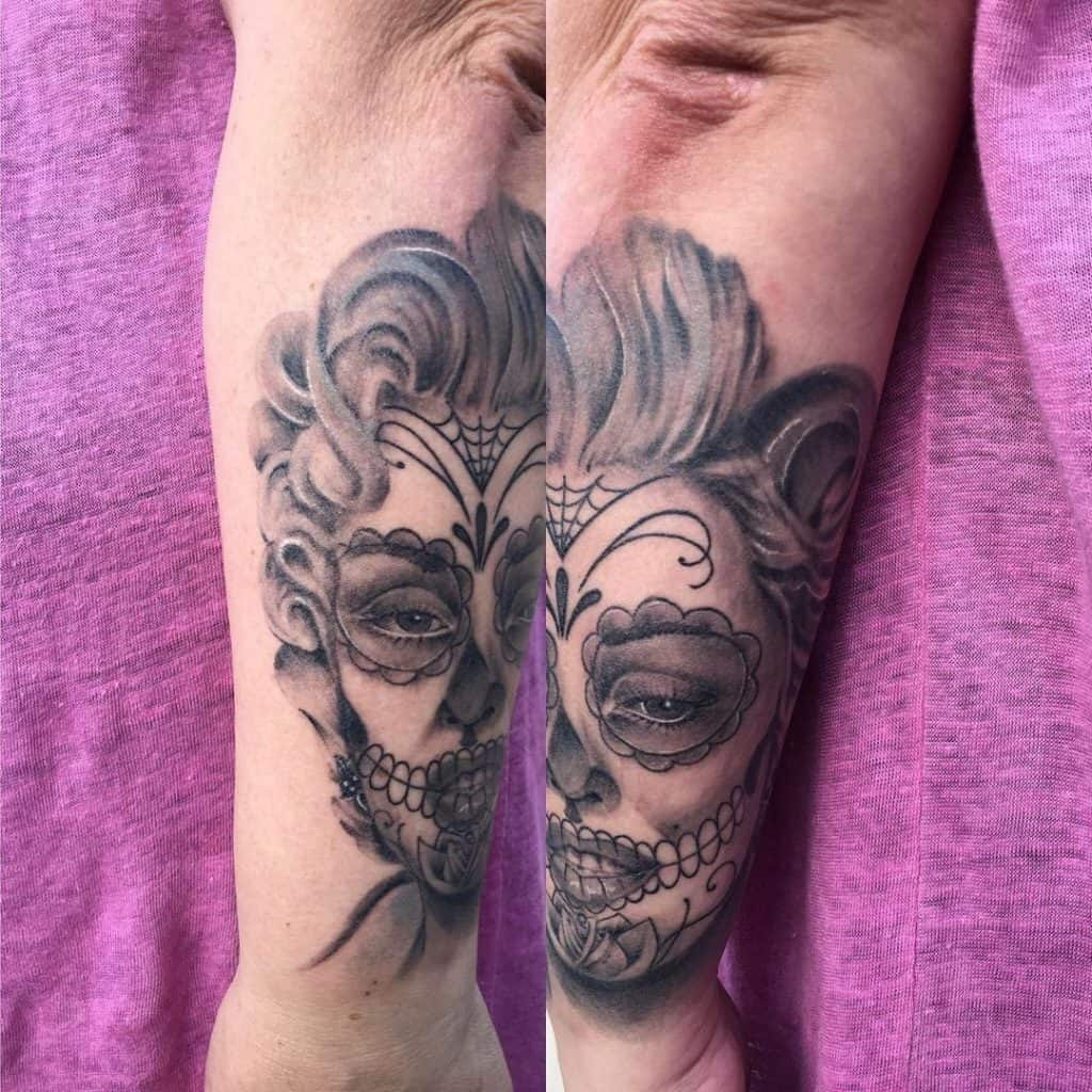 Sugar Skull Tattoos, saved tattoo, 15