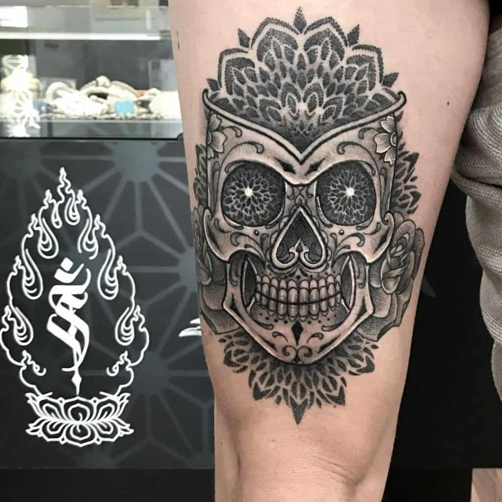 Sugar Skull Tattoos, saved tattoo, 18