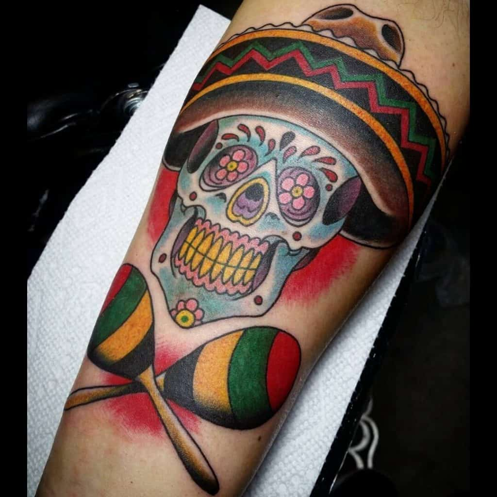 Sugar Skull Tattoos, saved tattoo, 23