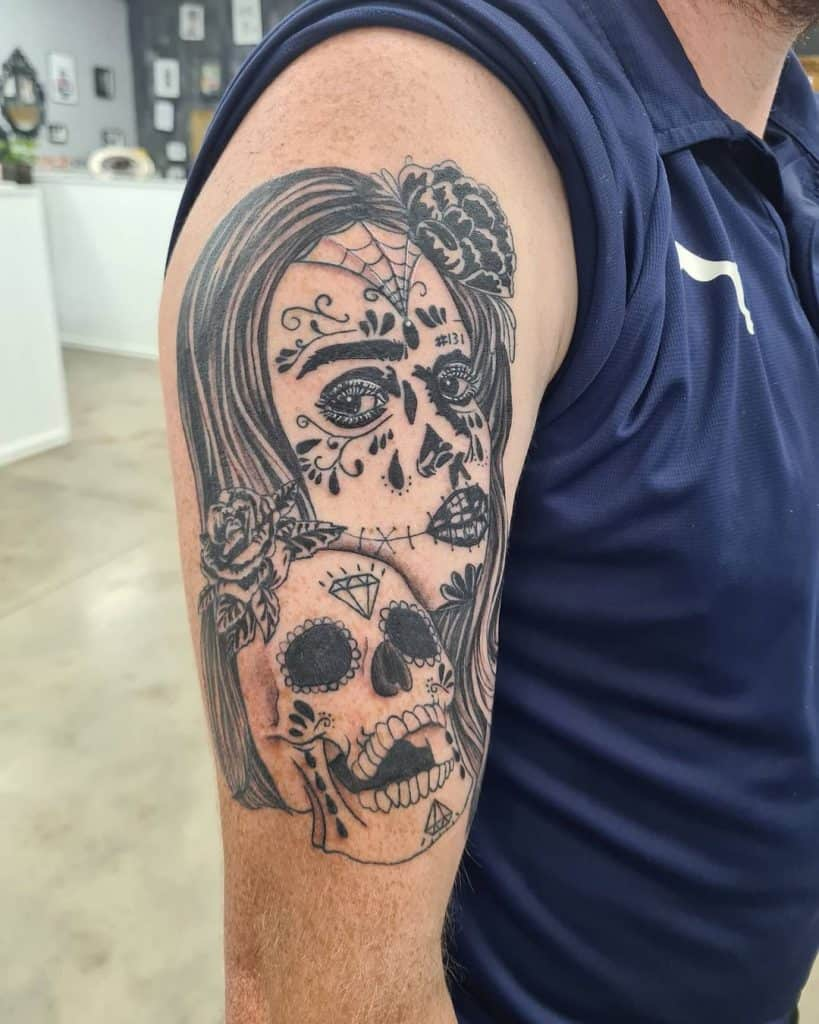 Sugar Skull Tattoos, saved tattoo, 3