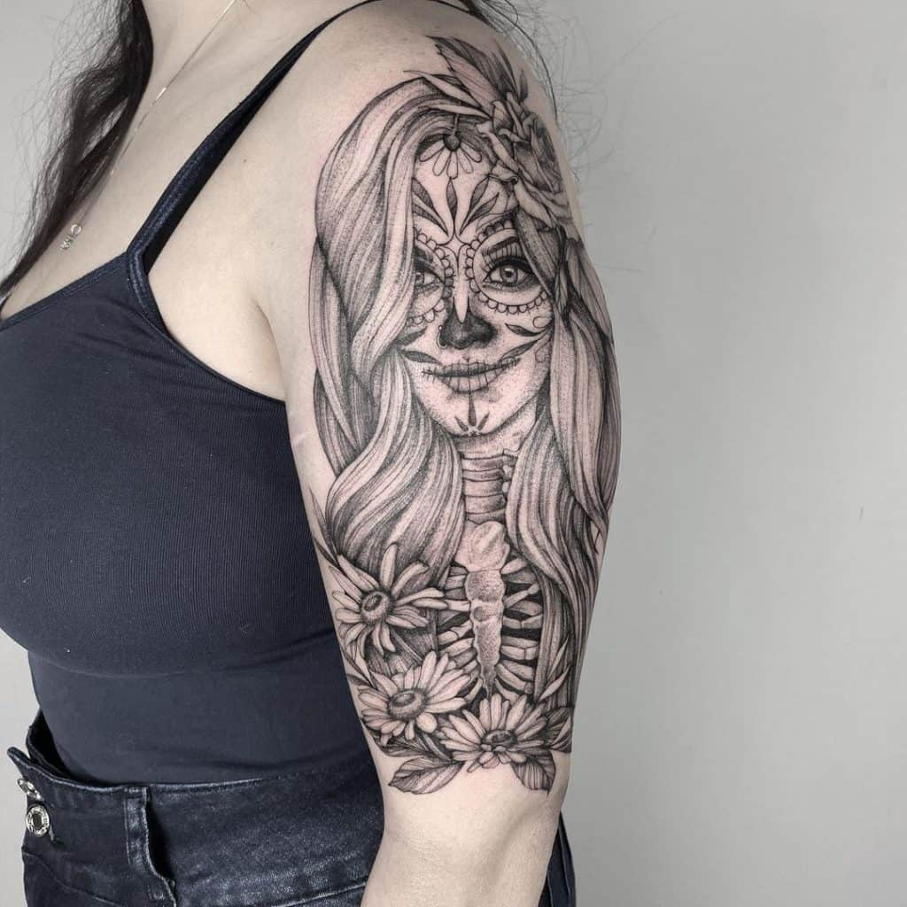 Sugar Skull Tattoos, saved tattoo, 6