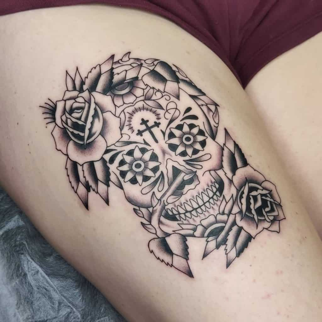 Sugar Skull Tattoos, saved tattoo, 8