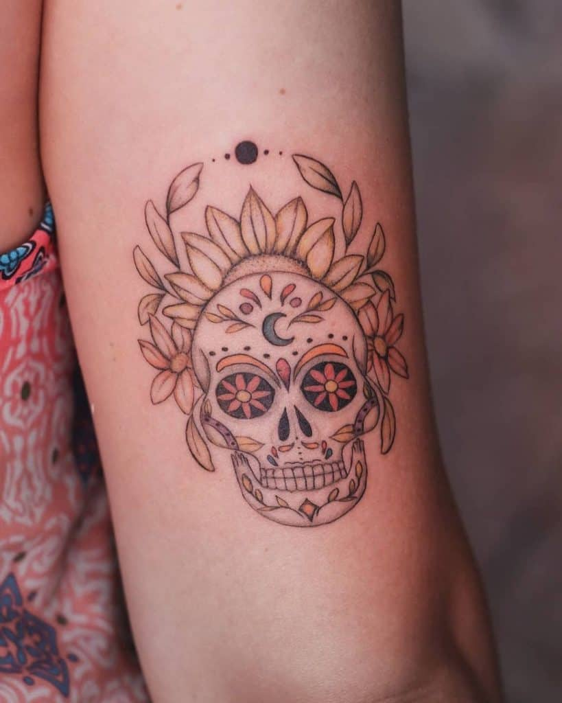 Sugar Skull Tattoos, saved tattoo, meaning