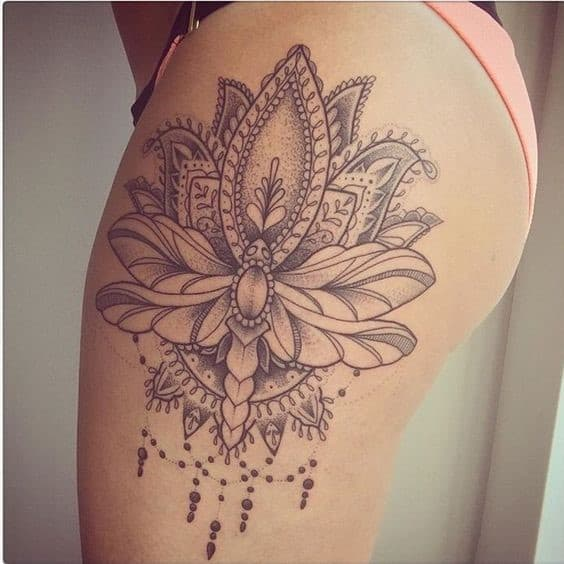 Thigh Lotus Flower