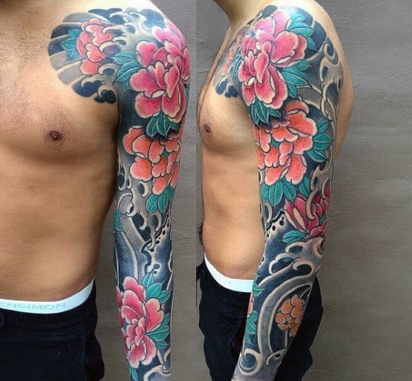 Traditional Japanese Lotus Flower Tattoo