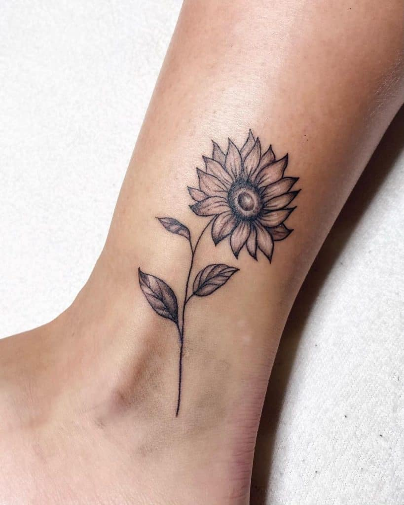 dark sunflower tattoo