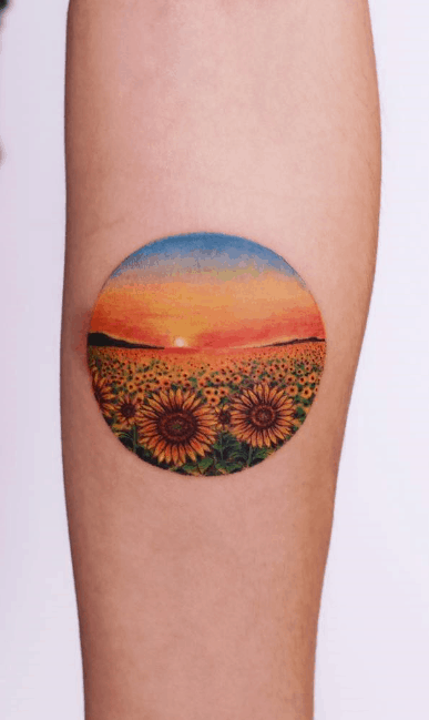 sunshine Sunflower Tattoo