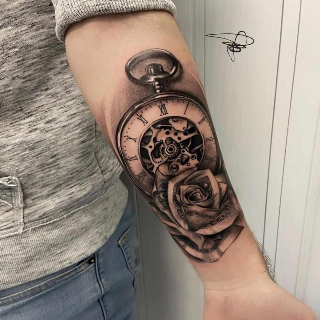What Does Clock Tattoo Mean   Saved Tattoo