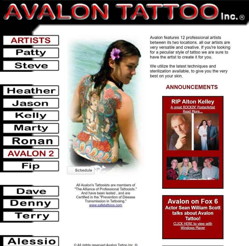 AvalonTattoo.com archive