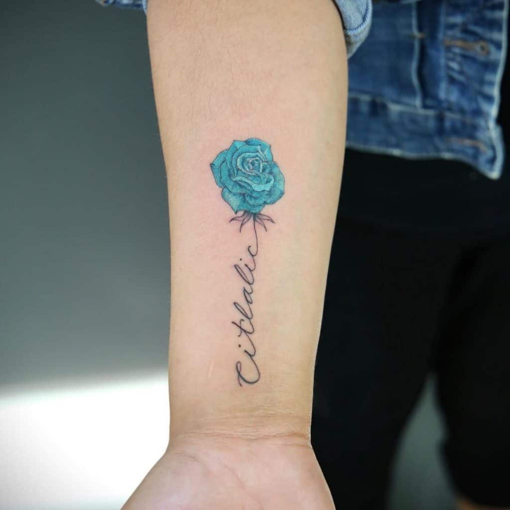 Blue Rose Tattoo Design