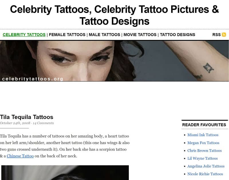 CelebrityTattoos.org archive