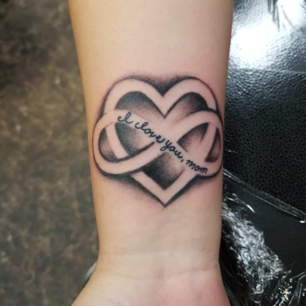 Mom Inspired & Dedicated Infinity Heart Tattoo