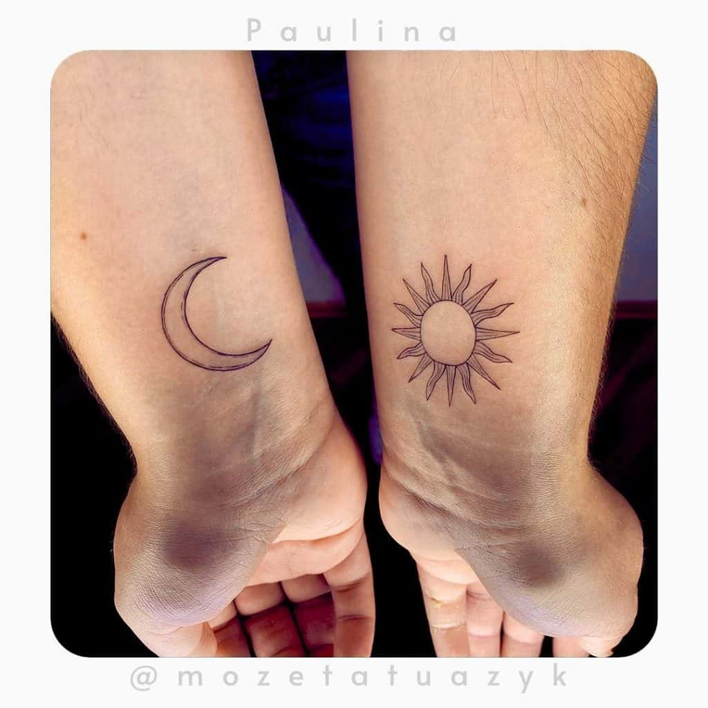 Simple Sun and Moon Tattoo Designs 4